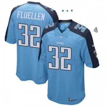Youth Nike Tennessee Titans David Fluellen Light Blue Team Color Jersey - Game