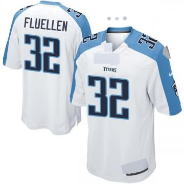Youth Nike Tennessee Titans David Fluellen White Jersey - Game
