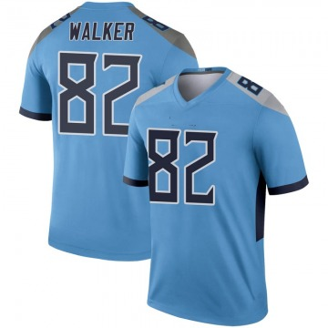 Youth Nike Tennessee Titans Delanie Walker Light Blue Inverted Jersey - Legend