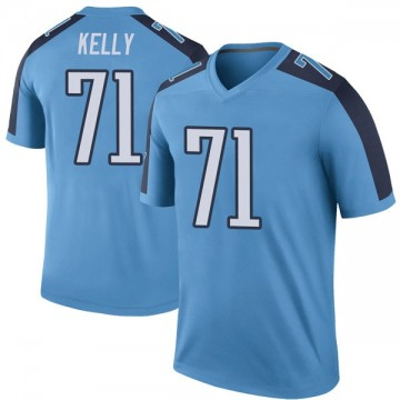 Youth Nike Tennessee Titans Dennis Kelly Light Blue Color Rush Jersey - Legend