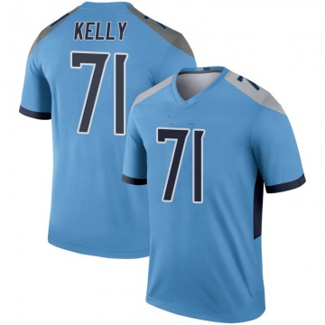 Youth Nike Tennessee Titans Dennis Kelly Light Blue Inverted Jersey - Legend