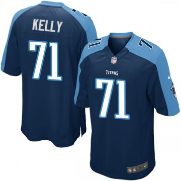 Youth Nike Tennessee Titans Dennis Kelly Navy Blue Alternate Jersey - Game