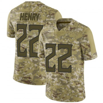 Youth Nike Tennessee Titans Derrick Henry Camo 2018 Salute to Service Jersey - Limited