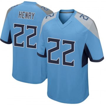 Youth Nike Tennessee Titans Derrick Henry Light Blue Jersey - Game