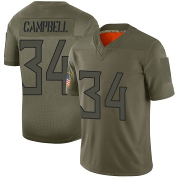 Youth Nike Tennessee Titans Earl Campbell Camo 2019 Salute to Service Jersey - Limited