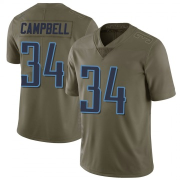 Youth Nike Tennessee Titans Earl Campbell Green 2017 Salute to Service Jersey - Limited