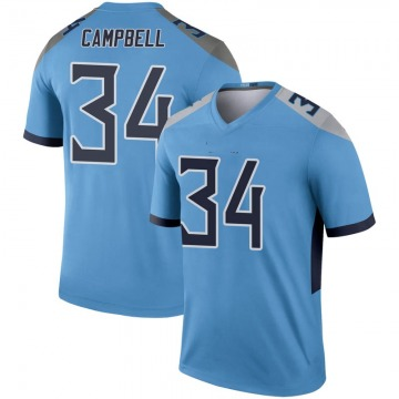 Youth Nike Tennessee Titans Earl Campbell Light Blue Inverted Jersey - Legend
