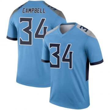 Youth Nike Tennessee Titans Earl Campbell Light Blue Jersey - Legend