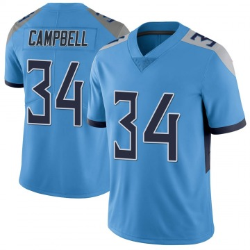Youth Nike Tennessee Titans Earl Campbell Light Blue Vapor Untouchable Jersey - Limited