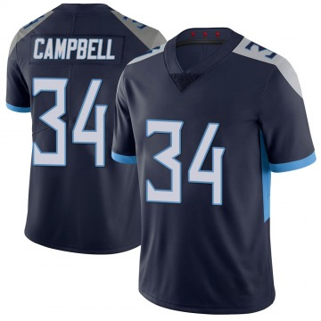 Youth Nike Tennessee Titans Earl Campbell Navy 100th Vapor Untouchable Jersey - Limited
