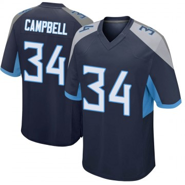 Youth Nike Tennessee Titans Earl Campbell Navy Jersey - Game