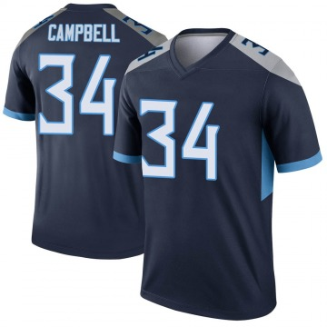 Youth Nike Tennessee Titans Earl Campbell Navy Jersey - Legend