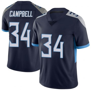 Youth Nike Tennessee Titans Earl Campbell Navy Vapor Untouchable Jersey - Limited
