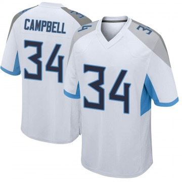 Youth Nike Tennessee Titans Earl Campbell White Jersey - Game