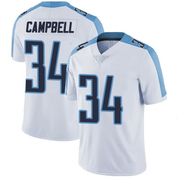Youth Nike Tennessee Titans Earl Campbell White Vapor Untouchable Jersey - Limited