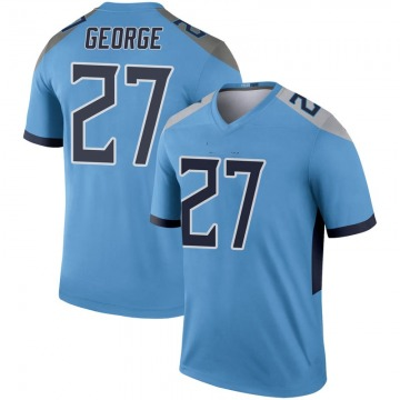 Youth Nike Tennessee Titans Eddie George Light Blue Inverted Jersey - Legend