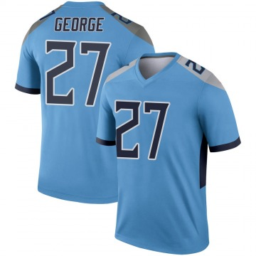 Youth Nike Tennessee Titans Eddie George Light Blue Jersey - Legend