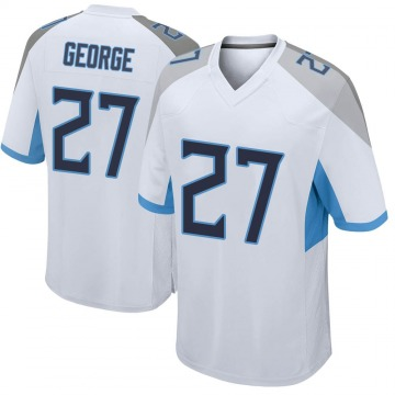 Youth Nike Tennessee Titans Eddie George White Jersey - Game