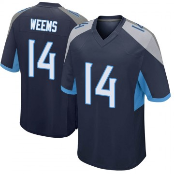 Youth Nike Tennessee Titans Eric Weems Navy Jersey - Game