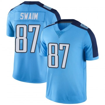 Youth Nike Tennessee Titans Geoff Swaim Light Blue Color Rush Jersey - Limited
