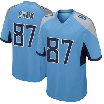 Youth Nike Tennessee Titans Geoff Swaim Light Blue Jersey - Game