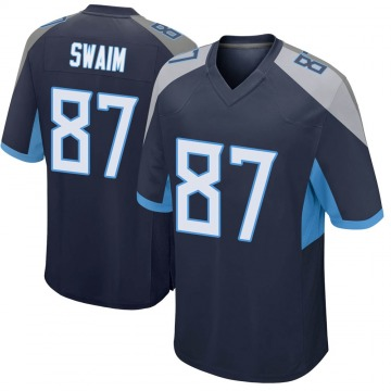 Youth Nike Tennessee Titans Geoff Swaim Navy Jersey - Game