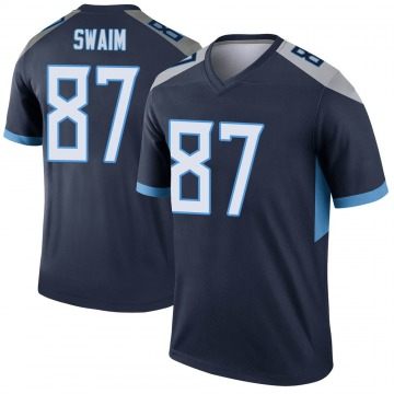 Youth Nike Tennessee Titans Geoff Swaim Navy Jersey - Legend