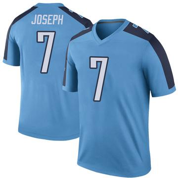 Youth Nike Tennessee Titans Greg Joseph Light Blue Color Rush Jersey - Legend