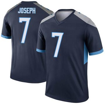 Youth Nike Tennessee Titans Greg Joseph Navy Jersey - Legend