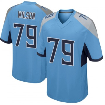 Youth Nike Tennessee Titans Isaiah Wilson Light Blue Jersey - Game