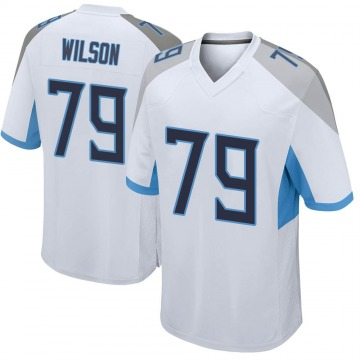 Youth Nike Tennessee Titans Isaiah Wilson White Jersey - Game