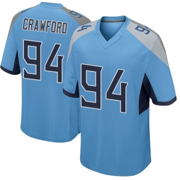 Youth Nike Tennessee Titans Jack Crawford Light Blue Jersey - Game