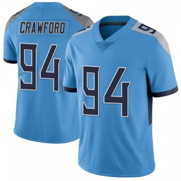 Youth Nike Tennessee Titans Jack Crawford Light Blue Vapor Untouchable Jersey - Limited