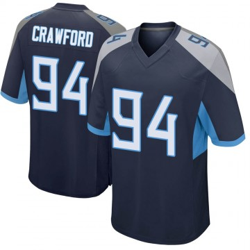 Youth Nike Tennessee Titans Jack Crawford Navy Jersey - Game