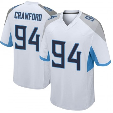 Youth Nike Tennessee Titans Jack Crawford White Jersey - Game