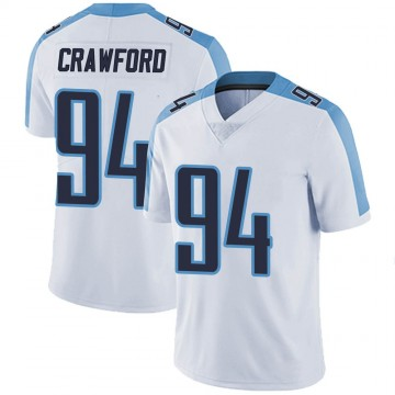 Youth Nike Tennessee Titans Jack Crawford White Vapor Untouchable Jersey - Limited