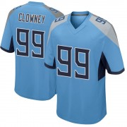 Youth Nike Tennessee Titans Jadeveon Clowney Light Blue Jersey - Game