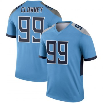 Youth Nike Tennessee Titans Jadeveon Clowney Light Blue Jersey - Legend