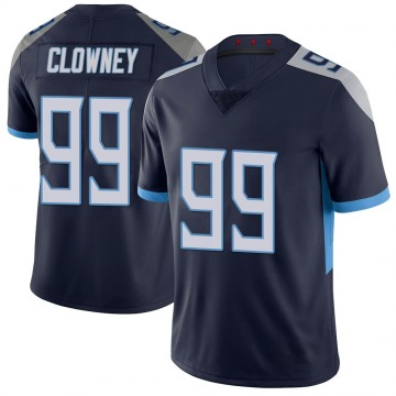 Youth Nike Tennessee Titans Jadeveon Clowney Navy 100th Vapor Untouchable Jersey - Limited