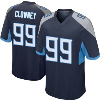 Youth Nike Tennessee Titans Jadeveon Clowney Navy Jersey - Game