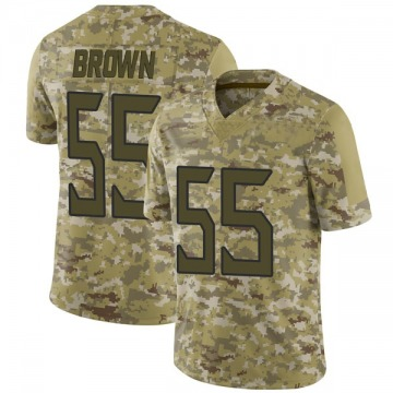 Youth Nike Tennessee Titans Jayon Brown Brown Camo 2018 Salute to Service Jersey - Limited