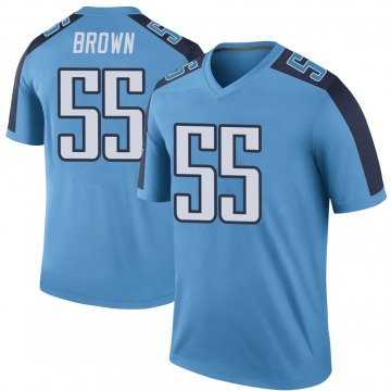 Youth Nike Tennessee Titans Jayon Brown Light Blue Color Rush Jersey - Legend
