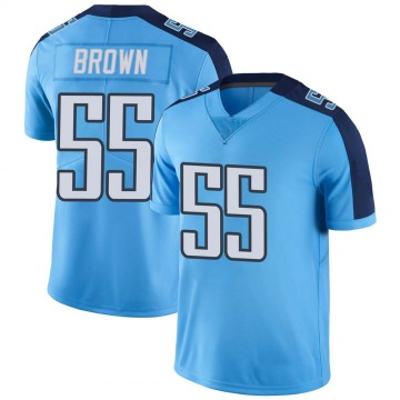 Youth Nike Tennessee Titans Jayon Brown Light Blue Color Rush Jersey - Limited