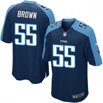 Youth Nike Tennessee Titans Jayon Brown Navy Blue Alternate Jersey - Game