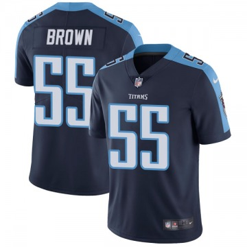 Youth Nike Tennessee Titans Jayon Brown Navy Blue Alternate Vapor Untouchable Jersey - Limited