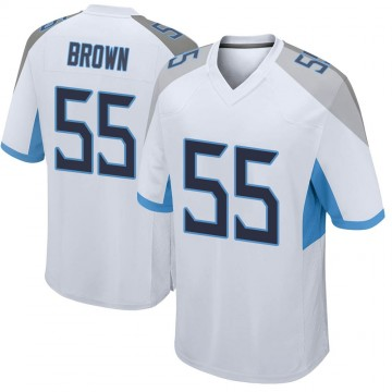 Youth Nike Tennessee Titans Jayon Brown White Jersey - Game