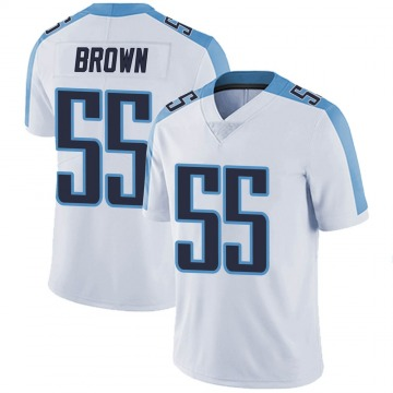 Youth Nike Tennessee Titans Jayon Brown White Vapor Untouchable Jersey - Limited