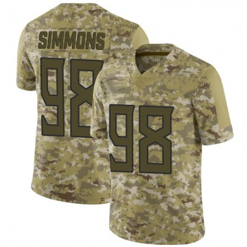 Youth Nike Tennessee Titans Jeffery Simmons Camo 2018 Salute to Service Jersey - Limited
