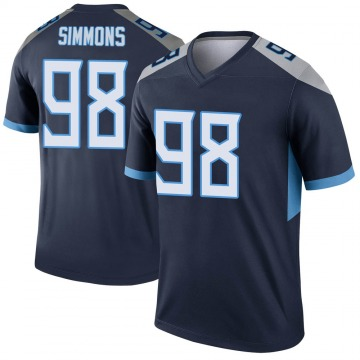 Youth Nike Tennessee Titans Jeffery Simmons Navy Jersey - Legend