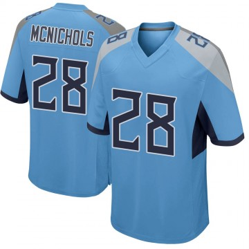 Youth Nike Tennessee Titans Jeremy McNichols Light Blue Jersey - Game